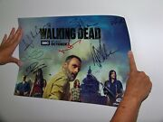 2018 Sdcc The Walking Dead Signed Poster Psa