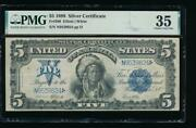 Ac Fr 280 1899 5 Silver Certificate Pmg 35 Chief Note