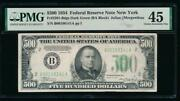 Ac 1934 500 Five Hundred Dollar Bill New York Pmg 45 Comment