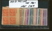 United States Postage Stamps 803-831 Mnh F/vf Plate Blocks Presidential Set