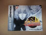 Castlevania Aria Of Sorrow Instructions Booklet Only Nintendo Gba - Manual