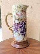 Antique Hand Painted Limoges Tankard C.1890-1932