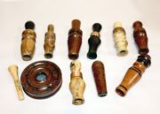 Lot Of 9 Duck Calls - Hand Made Single Reed - And 1 Slate Turkey Call
