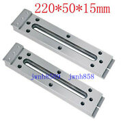 2pc Wire Edm Fixture Board Stainless Jig Tool For Clamp And Level 220x50x15mm
