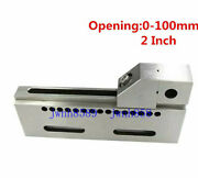 4 Wire Edm Vise High Precision Sus420 Stainless Steel Clamp 0-100mm Jaw Opening