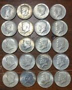 Lot Of 20 1964 Kennedy Half Dollar Coins 10 Face Value 90 Silver