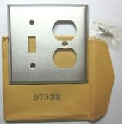 Bryant Usa 1960 Satin Brushed Chrome 2-gang Combo Switch Outlet Plate Wall Cover