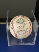Kris Bryant Game Used Signed 2015 Single 45th Career Hit Chicago Cubs Sf Giants