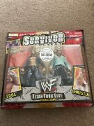 Wwe Wwf Signed Wrestling Figures Very Rare Edge And Christian Jacks Pacific 1999