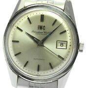 Wristwatch Schaffhausen Antique Menand039s Used Silver Cal.8541b Autimatic
