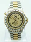 Vintage Tag Heuer Airline Gmt Watch, Ref 895.513, 1980's, 36mm, Great Condition