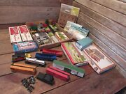 Vintage Plasticville Ho Scale Buildings Built And New Buildings - Sells As Parts