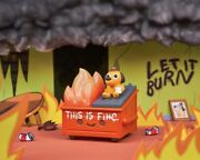 Dumpster Fire This Is Fine Vinyl Figure 100 Soft New In Hand Ships Fast