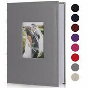 Photo Albums For 4x6 Photos Holds 300, 3 Per Pages Photo Picture Album Pu Gray