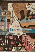 Abstract Moroccan Berber Oriental Area Rug Hand-knotted Plush Wool Carpet 9x13
