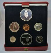 Canada Cased 1967 Pl/sp Set + Silver And Brass Medallions And Comm. 1 1967 Unc Note