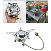 3500w Camping Gas Stove Piezo Ignition Burner Cooking Picnic Bbq Grill