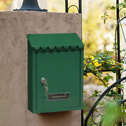 Mailbox Wall Mount Secure Locking Lockable Mail Box 2 Keys Home Gate Secure