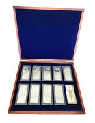 A Complete Set Of 1878 - 1880 Pure Silver Certificates On Detailed 30x70mm Ingot