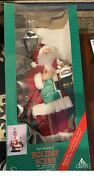 Adorb Vintage Holiday Creations Animated Santa With Girl Scene Lamp Post 1993