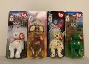 Ronald Mcdonalds House Charities Ty Collection Of 4 Bears Rare Only 4000 Each