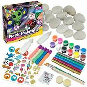 Glow In The Dark Rock Painting Arts And Craft Kit For Kids Andndash Supplies For