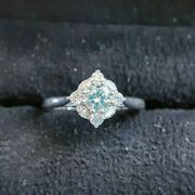 18ct White Gold Diamond Engagement Ring - Valuation Cert 6630 -1.56ct Size-m