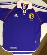 Adidas Climalite Japan Jfa World Cup Collared Authentic Soccer Jersey Large