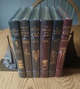 Easton Press 6 Leather Book Collector Set Wizard Of Oz L Frank Baum Road To Oz