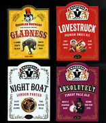 Madness - Set Of Pump Signs For All 4x Official Beers - Suggs Ska Ale Two 2 Tone