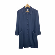 Cabi 5658 Xl Navy Button Front Carriage Jacket Mid Length 3/4 Sleeves