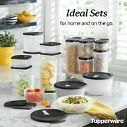 New Tupperware 3 Sets Modular Set Crystalwave Refrigerator Containers Free S/h