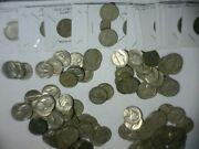 120 Assorted 1900and039s To 1960and039s Nickels Liberty Buffalo And Jefffersons U.s. Coins