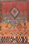 Thick-plush Modern Moroccan Berber Geometric Hand-knotted Oriental Area Rug 9x13