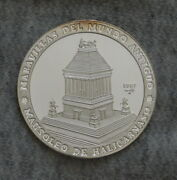 1997 10 Pesos Silver Proof Coin Wonders Of The Ancient World - Mausoleum Of Hal