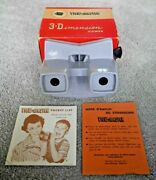 🔥 Rare 🔥 Vintage Viewmaster Model E Stereo Viewer Grey Near Mint And Boxed I864