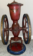 Antique Cha's Parker No. 15 Cast Iron Coffee Grinder Mill Rare Model