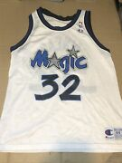 Vintage Shaquille Shaq Oand039neal Orlando Magic Jersey Menandrsquos 44 Champion Made In Usa
