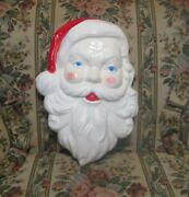 Vintage Christmas Light Blow Mold Santa Face Head 21 X 14andrdquo Union Products-