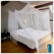 Luxury Mosquito Net For Bed Canopy, Xl Tent, Double To King, 85x77 Inch