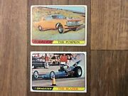 Topps Trading Cards Hot Rods T.c.g. 1968 Custom Cars Pumpkin And Blazer - Vintage