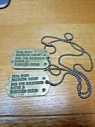 Ww Ii Us Army Texas Dog Tags Early Version Next Of Kin And National Archive Doc.