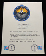 Carl Meade Space Shuttle Sts-38 Hand Signed Autograph Bio / Information Sheet