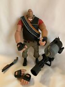 Neca Valve Team Fortress 2 Heavy Red 7andrdquo Action Figure W/ Accessories