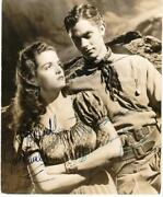 Jane Russell Jack Buetel The Outlaw 2x Signed Vintage 7x8.5 Photo Bas Auto