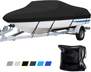Leader Accessories 600d Polyester Runabout Boat Cover Model D 17and039-19and039l Beam Up