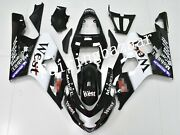 Fit For 2004 2005 Gsxr600 Gsxr750 Black White West Abs Injection Fairing Kit