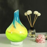 Ultrasonic Aroma Diffuser Glass Base Safe Durable Color Changing For Home Yoga