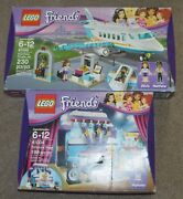 2 Retired Lego Friends Sets 41100 41004 Heartlake Private Jet Rehearsal Stage