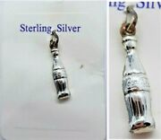 Sterling Silver Pendant Fob Charm - Coke Coca Cola Bottle New With Tags